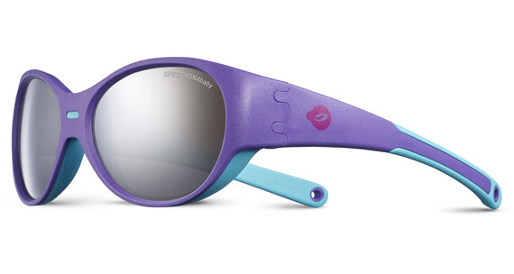 Julbo Kids 3-5Y Puzzle Spectron 4 Sunglasses Purple/Turquoise-Gray Flash Silver